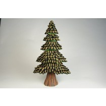 Tree Green/Brn Half Cones 18""