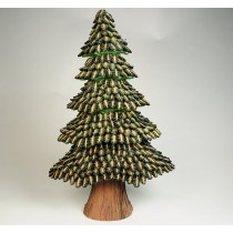 Tree Green/Brn Half Cones 20""