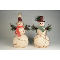 """Snowman w/Pine/Berry Asst*2 10.5"""""""