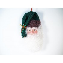 Santa Head w/Green Hat