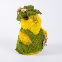 Chick Yel Jute w/Grn Dress/Hat 3.5""