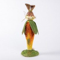 Rabbit Cartoon w/Carrot Body 8""