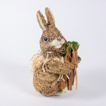 Rabbit Brn Jute w/Carrots 5""