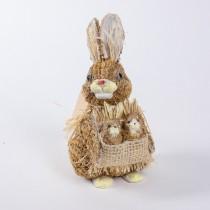 "Rabbit Brn Jute w/Babies 5"""