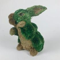 "Rabbit Brn/Grn Jute Pom Pom Standing 6"""