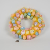 Wreath Egg Beaded Mutil-Color 11""