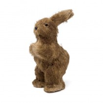Rabbit Brown Jute Standing Hands Up 10""