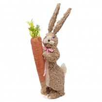 Rabbit Nat. Jute Tall w/Carrot 16""