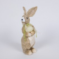 "Rabbit Nat Jute w/Large Egg Stand 9"""
