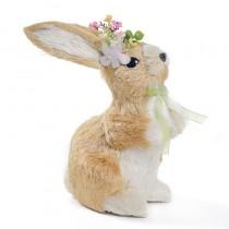 "Rabbit Beige/Wht Sisal w/Flower 10"""