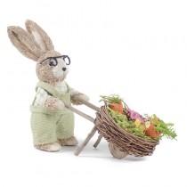 "Rabbit Beige Sisal w/Grn Clothes/Cart 9""Lx9""H"