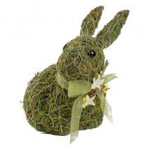 "Rabbit Green Moss w/Wire Wrap/Ribbon 7"""