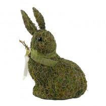 "Rabbit Green Moss w/Wire Wrap/Ribbon 10.5"""