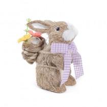 "Rabbit Brn/Wht w/Ribbon/Back Basket 5"""