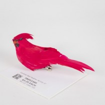 """Cardinal Red Feather w/Clip 5"""""""