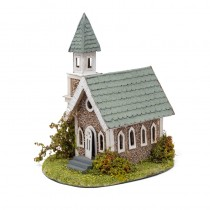 Church Green Shingle Roof 6x4.5x7""
