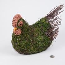 """Hen Green Moss  w/Twig 8.25"""""""