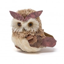 Owl Brown Grass w/Jute & Conechip 4""