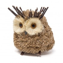 Owl Brown Grass w/Jute & Twig 8""