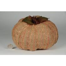 """Pumpkin Khaki Burlap Set/4 (6""""-9"""")"""