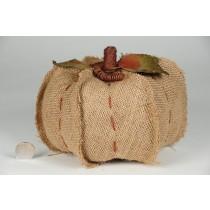 """Pumpkin Khaki Burlap Set/3 (5""""-8"""")"""