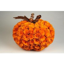 Pumpkin Orange Woodchip 10""