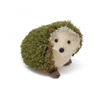 Hedgehog Green Jute/Burlap Sitting 4""