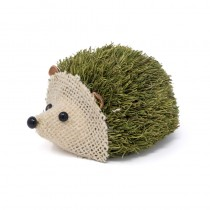 Hedgehog Green Jute/Burlap Lying 4""