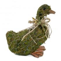 """Duck Green Moss w/Wire Wrap/Ribbon 7.5"""""""