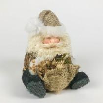 """Santa Jute W/Burlap Bag Sitting 6"""""""