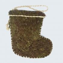 """Sock Grn/Brn Moss 10"""""""