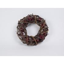 """Wreath Brown Twig w/Mini Apple 9"""""""