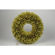 Wreath Olive Grn Woodchip 15""