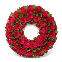 Wreath Red/Grn Woodchip 18""