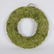 Wreath Grn Spanish Moss 16""