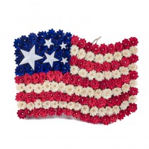 Wreath Patriotic USA Flag 19""
