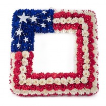 Wreath Patriotic USA Square 17""