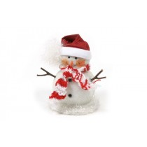 "Snowman w/Scarf/Beaded 5"""