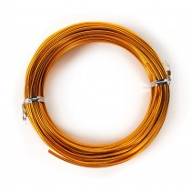 Aluminum Vibrant Gold Wire 12 Guage, 39'