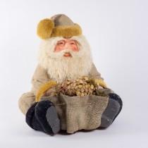 """Santa Nat Burlap Sitting 18""""H"""