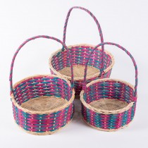 Basket Red/Green (Set/3) 10""