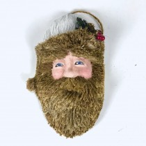Santa Head Brown Jute 11""