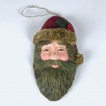 "Santa Head Grn Grass 11"""