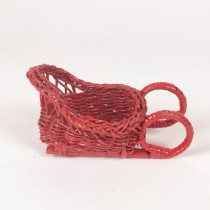 Sleigh Red Rattan 3.5""