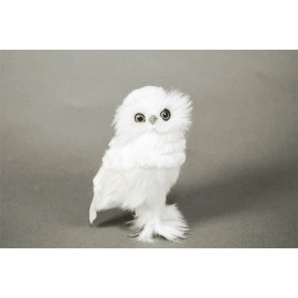 Owl White Feather 5""